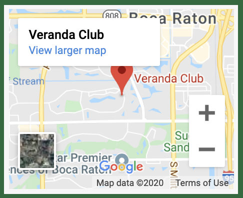 veranda club Google map result