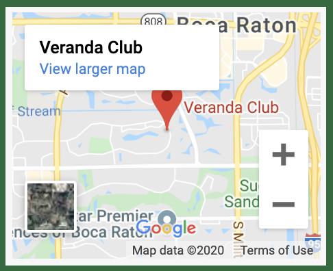 veranda club Google map result